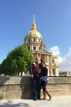 Seeing Paris with the hubby!