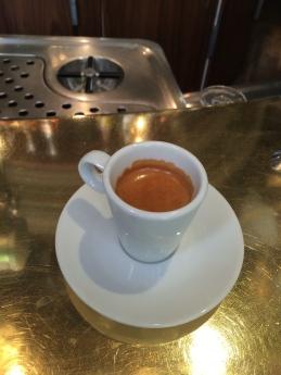 Having espresso in Paris.