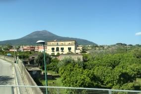 Visiting Pompeii.